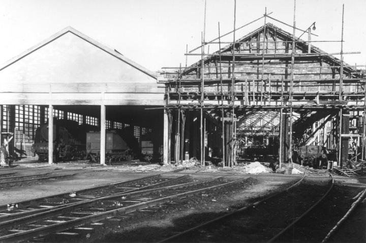 Reconstruction des ateliers du dépôt d'Argentan