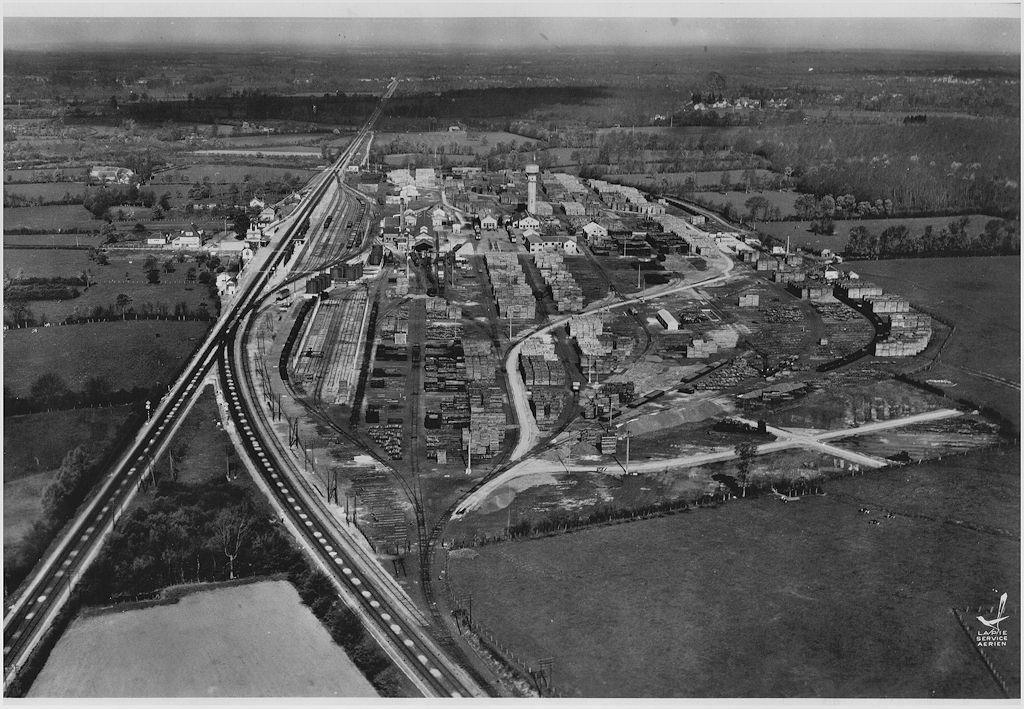 Vue aérienne du chantier de Surdon