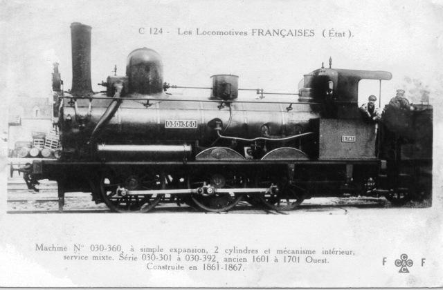 1601/1701 Ouest - 030-301/392 Etat - 030 B 301/392 SNCF