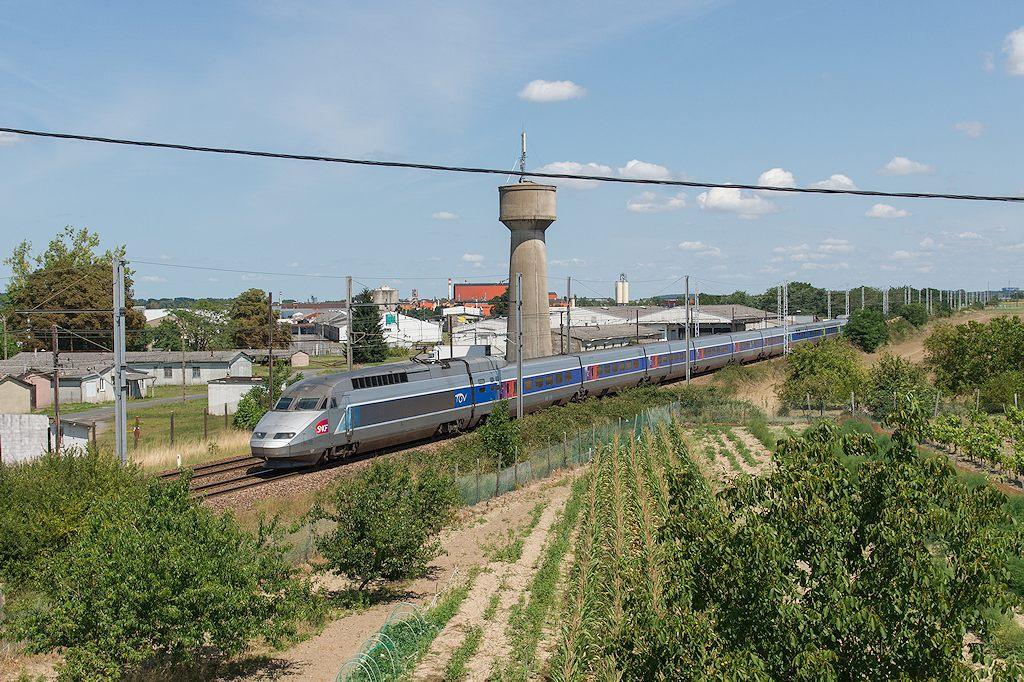 TGV A 324 - Ingrandes sur Vienne - 05/08/2014