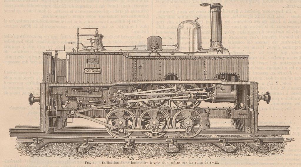Locomotive à VM sur truck à VN