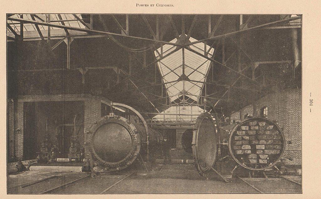Cylindres d'injection de la créosote - Surdon 1905