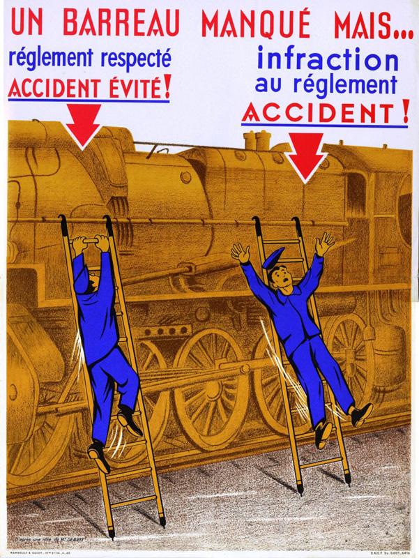 Affiche Sécurité Chemin de Fer