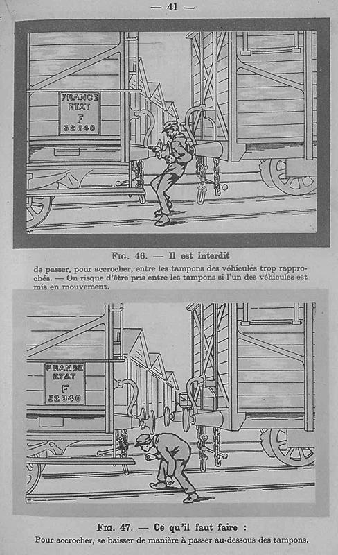 Instruction Générale résumant les Prescriptions à observer par les agents pour se mettre à l'abri des accidents - CF de l'Etat - 1929
