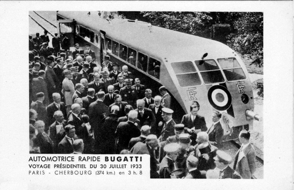 Voyage présidentiel du Président Lebrun en Bugatti