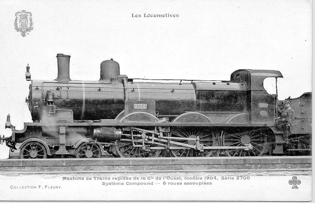 Locomotive type 230 - 2701/2820 Ouest - 230-501/620 Etat - 230 C 501/620 SNCF