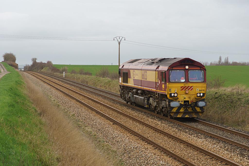 Class 66033 ECR - Argentan - 07/03/2020