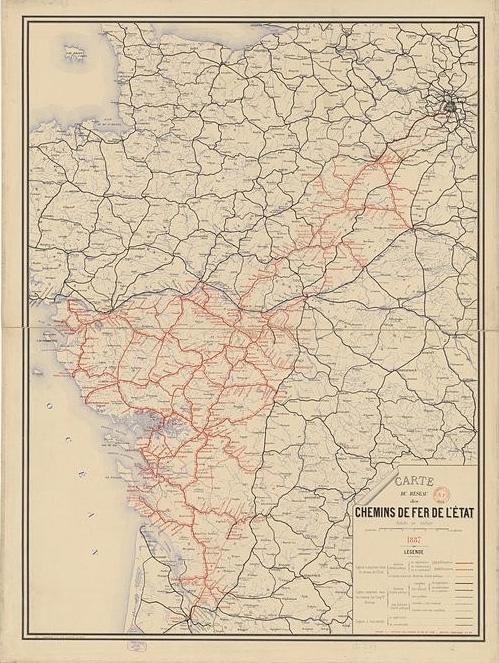 Carte des Chemins de Fer de l'Etat