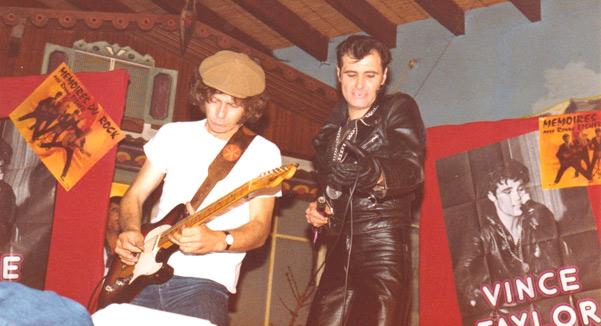 Vince Taylor et Patrick Verbeke - Wervicq - 1979 - Photo: Julien EVEN