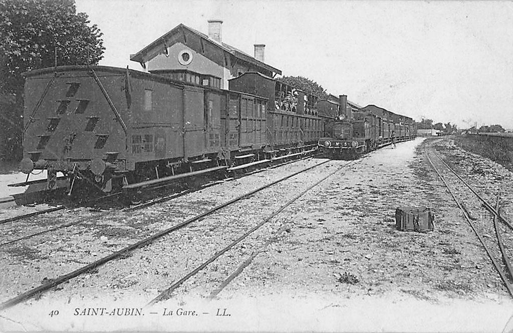 Croisement de 2 trains à St Aubin/Mer